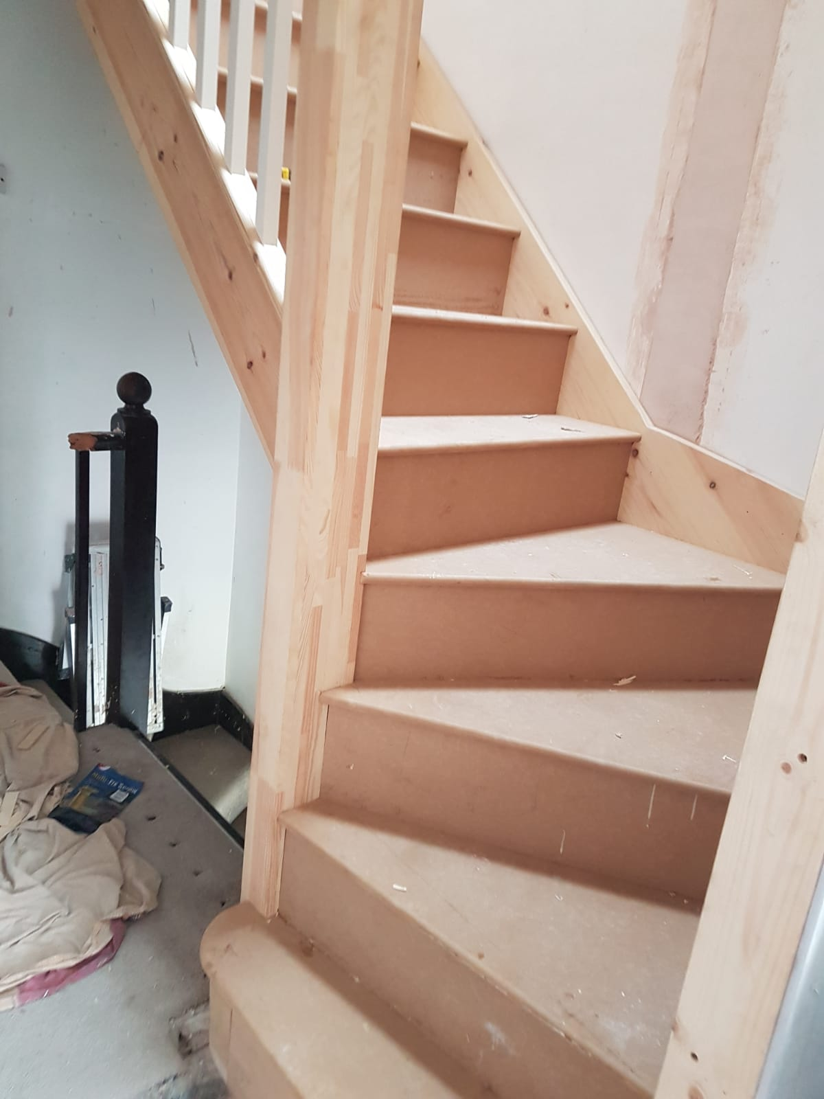 Bespoke winder staircase made and fitted on site