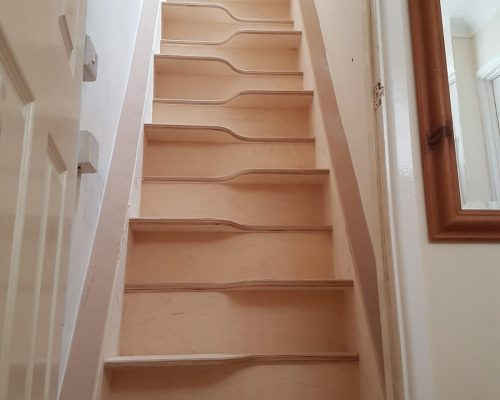 Loft staircase with brand new balustrade