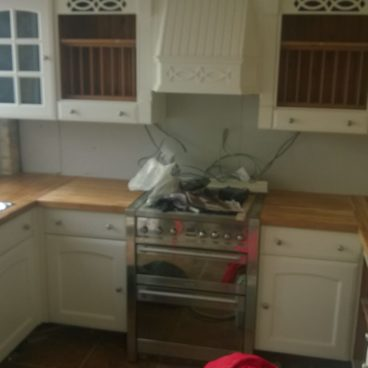 A kitchen we created and installed in Burwell