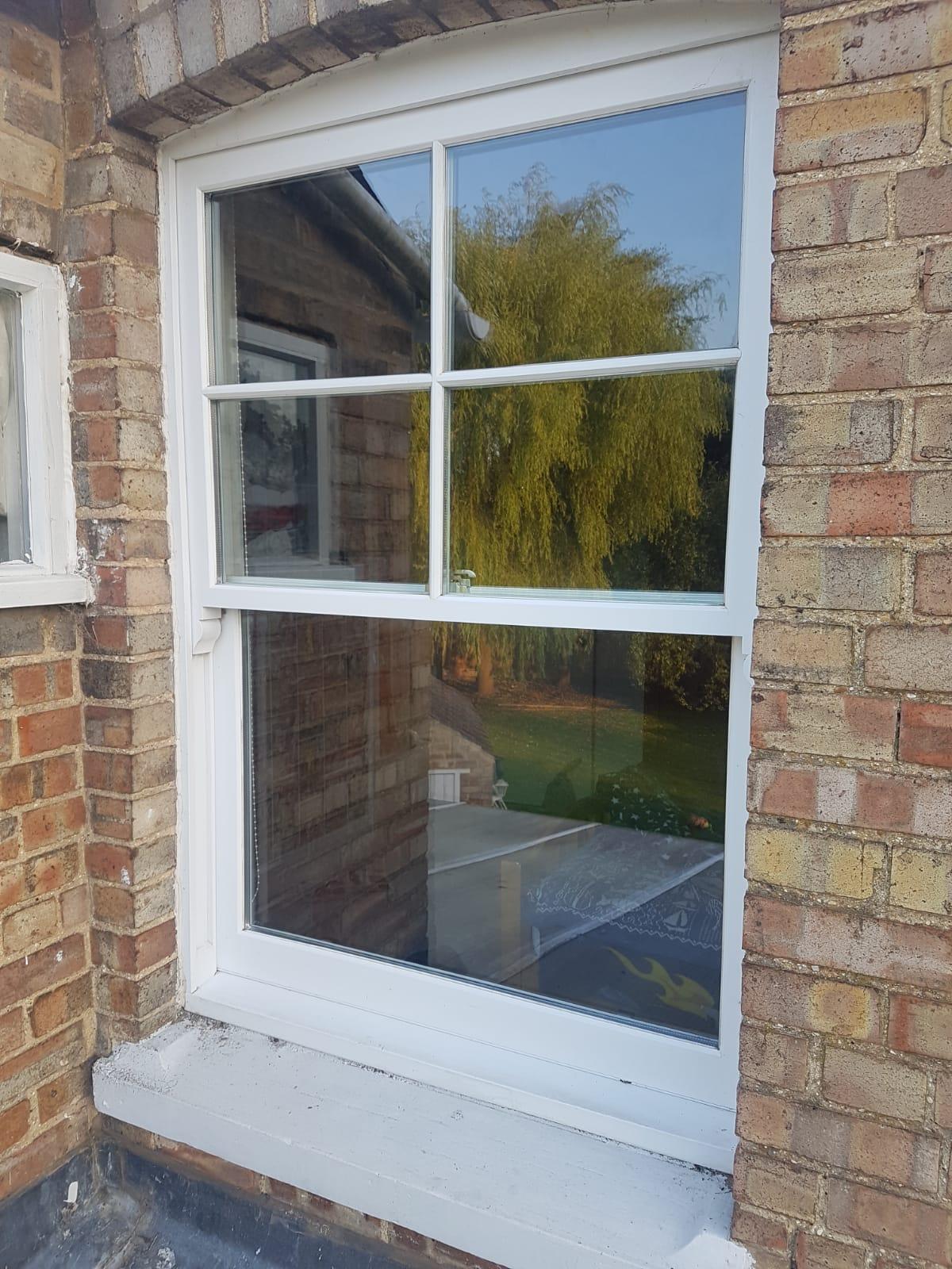 A sliding sash window after repair