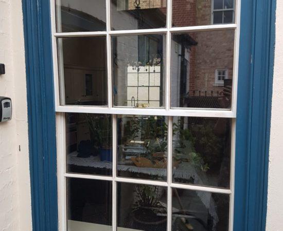 Installing double glazing into a window