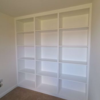 Large bookcase carpentry project