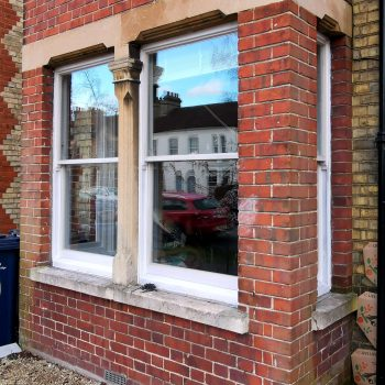 Completed sash window renovation
