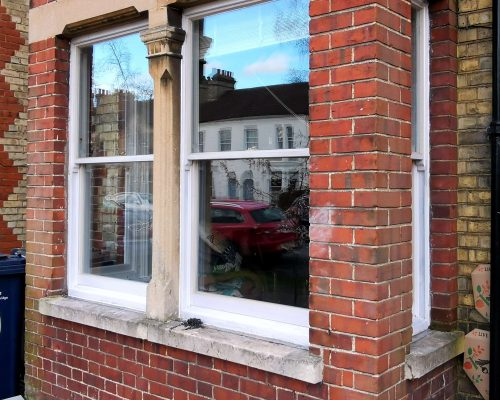 Completed sash window renovation