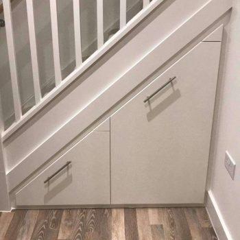 Under-stair storage cupboard