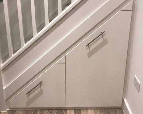 Under-stair storage cupboard