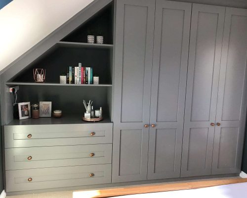 Bespoke wardrobe created and installed in Ely